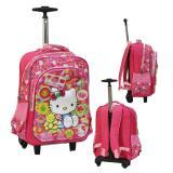 Review Toko Onlan Hello Kitty 5D Timbul Hologram Tas Trolley Sd Gagang Samurai Stainless Anti Karat Ada 2 Kantung Besar Import Pink