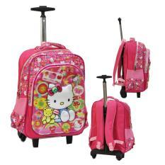 Jual Onlan Hello Kitty 5D Timbul Hologram Tas Trolley Sd Gagang Samurai Stainless Anti Karat Ada 2 Kantung Besar Import Pink Onlan Online