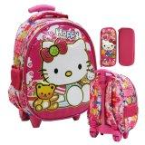 Toko Onlan Hello Kitty 6D Timbul Setengah Telur Tas Trolley Anak Tk Import Dan Kotak Pensil Timbul Pink Termurah Indonesia
