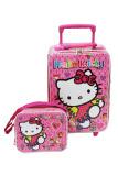 Cuci Gudang Onlan Set Koper Dan Lunch Bag Anak Perempuan Bahan Sponge Tahan Air Pink