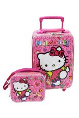 Jual Onlan Set Koper Dan Lunch Bag Anak Perempuan Bahan Sponge Tahan Air Pink Dki Jakarta