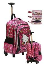 Toko Onlan Hello Kitty Tas Trolley Sd Gagang Samurai Stainless Steel Bahan Satin Import Dan Kotak Pensil Kain Pink Fanta Onlan Indonesia