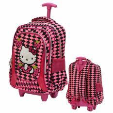 Harga Onlan Hello Kitty Tas Trolley Ukuran Anak Sekolah Sd Bahan Satin Import Pink Yg Bagus