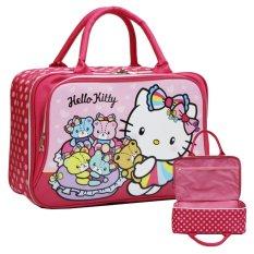 Promo Onlan Travel Bag Karakter Anak Perempuan Dua Kantung New Arrival Pink