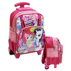 Harga Onlan Little Pony Renda Tas Trolley Anak Sekolah Play Group Bahan Saten Pink Origin