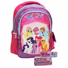 Promo Onlan Little Pony Tas Ransel Anak Sd Kantung Besar Dan Kotak Pensil Set Alat Tulis Pink Di Dki Jakarta
