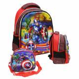 Toko Jual Onlan Marvel Avengers 5D Timbul Hologram Tas Ransel Anak Sekolah Tk Import Dan Tempat Bekal Biru Merah