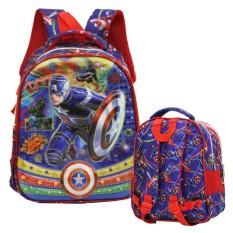 Harga Hemat Onlan Marvel Avengers Super Hero 5D Timbul Hologram Tas Ransel Anak Sekolah Tk Import