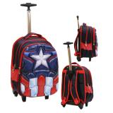Tips Beli Onlan Marvel Avengers Super Herp 6D Hard Cover Timbul Tas Trolley Gagang Samurai Stainless Import Blue