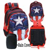 Review Onlan Marvel Avengers 6D Timbul Hard Cover Tas Ransel Anak Sekolah Sd Import Rain Cover Blue Onlan
