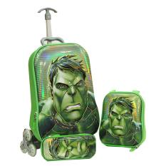 Toko Onlan Marvel Avengers Hulk 6D Timbul Lapis Anti Gores Trolley Anak 3In1 Set 6 Roda Gagang Samurai Almunium Steel Import Green Lengkap