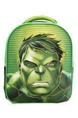 Onlan Marvel Avengers Hulk Kepala 6D Timbul Lapis Anti Gores Tas Ransel Anak Tk Import Green Indonesia Diskon 50