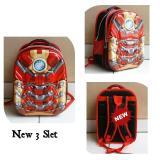 Jual Onlan Marvel Iron Man Super Hero 6D Timbul Tas Ransel Anak Kantung Besar Import Merah Onlan