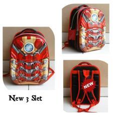Toko Onlan Marvel Iron Man Super Hero 6D Timbul Tas Ransel Anak Kantung Besar Import Merah Dekat Sini