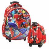 Model Onlan Marvel Spiderman 6D Timbul Kantung Depan Depan Model Telur Tas Trolley Anak Tk Atau Pg Import Terbaru