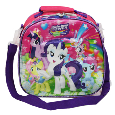 Jual Onlan My Little Pony 5D Timbul Hologram Lunch Bag Tas Bahu Selempang Ransel Purple Online
