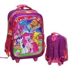 Spesifikasi Onlan My Little Pony 5D Timbul Hologram Tas Trolley Sd Kantung Besar Import Purple Beserta Harganya