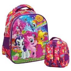 Model Onlan My Little Pony 5D Timbul Tas Ransel Anak Sekolah Tk Play Group Import Terbaru