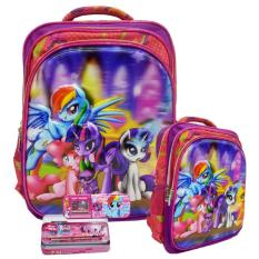 Tips Beli Onlan My Little Pony 5D Timbul Tas Ransel Sd New Model Dan Kotak Pensil Set Alat Tulis