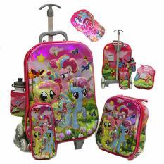 Review Tentang Onlan Tas Trolley Anak Perempuan Little Pony 4In1 Set 6 Roda Import Dan Topi Cantik