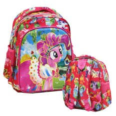 Promo Onlan My Little Pony 6D Timbul Lapis Anti Gores Tas Ransel Play Group Import Pink Indonesia
