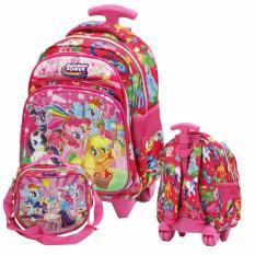 Promo Toko Onlan My Little Pony 6D Timbul Tas Trolley Anak Tk Play Group Import Dan Tempat Bekal Pink