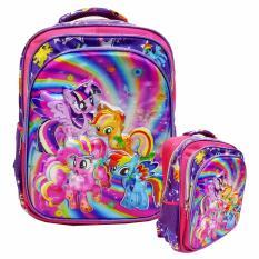 Review Tentang Onlan My Little Pony Batik 5D Timbul Hologram Tas Ransel Anak Sekolah Sd Kantung Besar Import Purple