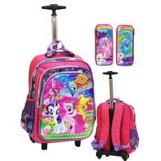 Review Terbaik Onlan My Little Pony Flower 5D Timbul Tas Trolley Sd Gagang Samurai Stainless Dan Kotak Pensil Timbul Pink