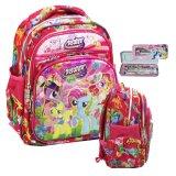 Toko Onlan My Little Pony Lis Emas 6D Timbul Tas Ransel Anak Sekolah Play Group Import Dan Kotak Pensil Pink Onlan