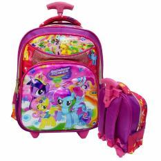 Jual Onlan My Little Pony 6D Timbul Tas Trolley Anak Tk Play Group Import Pink Di