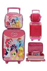 Jual Onlan Set Koper Dan Lunch Bag Anak Bahan Sponge Tahan Air Gambar Little Pony Pink Onlan Murah