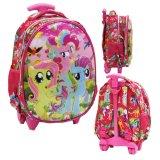 Ulasan Lengkap Onlan My Little Pony Setengah Telur Tas Trolley Anak Sekolah Tk Pink