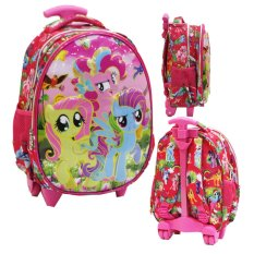 Harga Termurah Onlan My Little Pony Setengah Telur Tas Trolley Anak Sekolah Tk Pink
