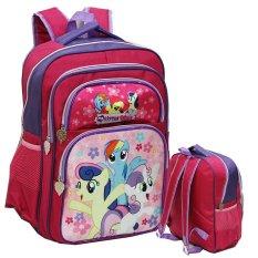 Beli Onlan My Little Pony Tas Ransel Anak Sekolah Ukuran Sd Ada 4 Kantung Besar Pink Fanta Online Murah
