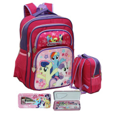 Jual Onlan My Little Pony Tas Ransel Anak Ukuran Sd Ada 4 Kantung Besar Dan Kotak Pensil Set Alat Tulis Pink Fanta Di Dki Jakarta
