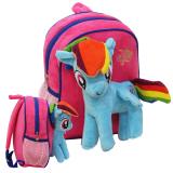Promo Onlan My Little Pony Tas Ransel Boneka Anak Ukuran Play Group Bahan Yelvo Lembut Dan Halus Pink Blue