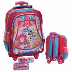 Beli Onlan My Little Pony Tas Trolley Anak Sekolah Play Group Atau Tk Kantung Unik Dan Kotak Pensil Set Alat Tulis Pink Kredit