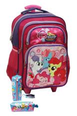 Harga Onlan My Little Pony Tas Trolley Anak Sekolah Sd Ukuran Sd Ada 4 Kantung Besar Dan Kotak Pensil Kain New Model Ungu Pink Terbaik