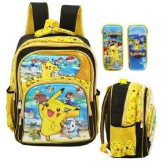 Ulasan Lengkap Onlan Pokemon Go 5D Timbul Hologram Tas Ransel Sd Ada 4 Kantung Import Dan Kotak Pensil 5D Timbul