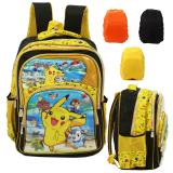 Beli Onlan Pokemon Go 5D Timbul Hologram Tas Ransel Sd Ukuran 4 Kantung Besar Import Cover Bag Anti Air Yellow Cicil