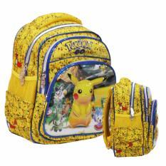 Ulasan Lengkap Tentang Onlan Pokemon Go 6D Timbul Tas Ransel Anak Sekolah Tk Play Group Ada 3 Kantung Yellow
