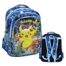 Spesifikasi Onlan Pokemon Go 6D Timbul Tas Ransel Sd Ada 3 Kantung Import Blue Yang Bagus Dan Murah
