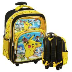 Spesifikasi Onlan Pokemon Go 6D Timbul Tas Trolley Anak Sd Import Yellow Yg Baik