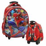 Jual Onlan Spiderman 6D Timbul Setengah Telur Tas Trolley Anak Tk Import Red Onlan Murah