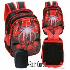 Review Tentang Onlan Spiderman Laba Laba 6D Timbul Hard Cover Tas Ransel Anak Sekolah Sd Import Rain Cover Red