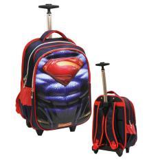 Review Toko Onlan Superman 6D Soft Hard Cover Timbul Tas Anak Sekolah Trolley Gagang Samurai Stainless Anti Karat Import Blue Online