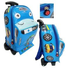 Onlan Tas Anak Sekolah PAUD Bentuk Mobil Bahan Kain Sponge Anti Air