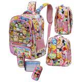 Jual Onlan Tas Anak Sekolah Ransel Sd Tsum Tsum 6D Timbul 4Kt Import Kotak Pensil Pink Branded Original