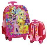 Jual Onlan Tas Lampu Music Little Pony Trolley Anak Sekolah Tk Motif Anak Perempuan Cantik Pink Onlan Grosir