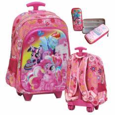Harga Onlan Tas Lampu Music Trolley Anak Perempuan Import Kotak Pensil Pink Onlan